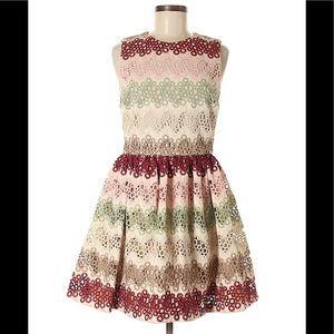 Alice + Olivia Joyce Lace Party Eyelet Dress